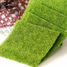 Поддельный мох миниатюрный садовое Украшение DIY гриб ремесло горшок Фея искусственный газон трава для свадьбы Рождество вечерние украшения 15x15cm