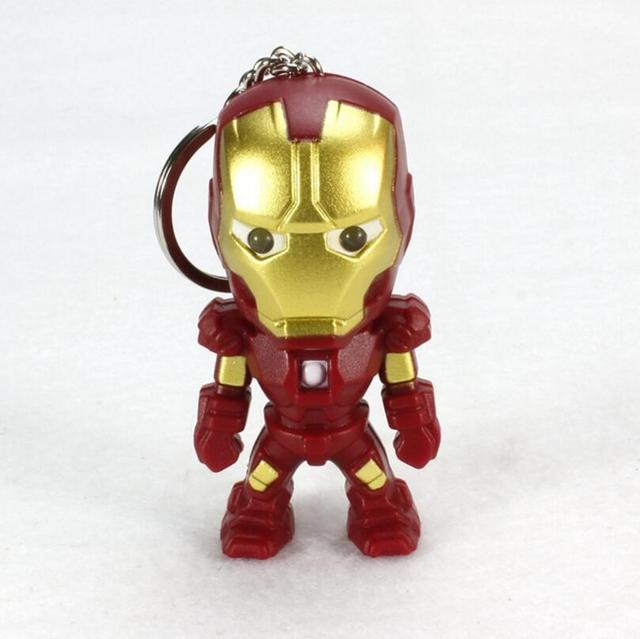 Iron Man Mini Figure with Sound and Light Keychain 2.4 Inches 3