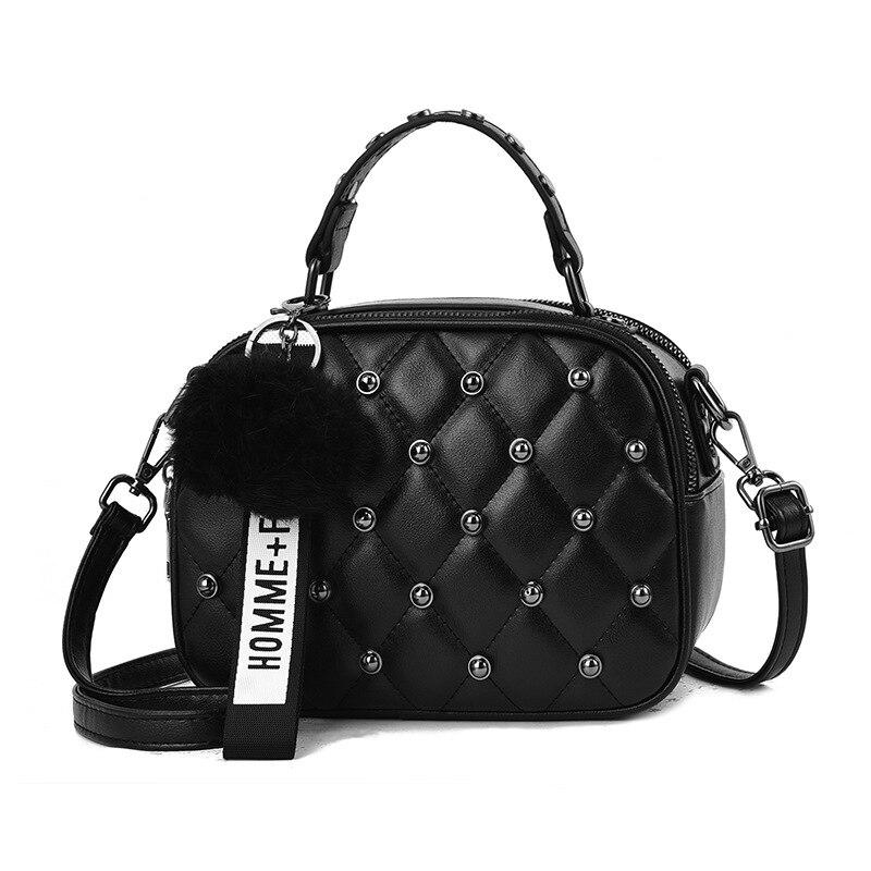 Crossbody Bags Women New Tassel Pompom Women Messenger Bags Leather Handbags Shoulder Vintage Bag Female Bolsas Feminina Mujer