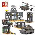 Kits de edificio modelo compatible con lego city ejército sluban 444 bloques 3d aficiones modelo educativo y juguetes de construcción para los niños