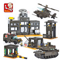 Sluban model building kits compatible with lego city army 444 3D blocks Educational model & building toys hobbies for children