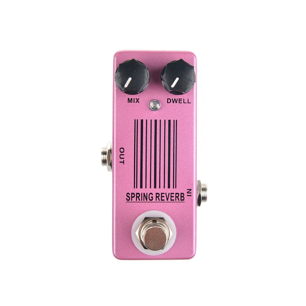 Mosky Spring Reverb Guitar Effect Pedal Mini Single with True Bypass Switching Guitar Parts & Accessories caline cp 26 guitar effect pedal snake bite reverb effect pedals true bypass design with delay effect no coloring sound