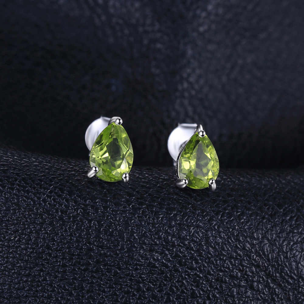 JewelryPalace 1.6ct ของแท้ Peridot Stud ต่างหู 925 เงินสเตอร์ลิงต่างหูเกาหลีต่างหูแฟชั่นเครื่องประดับ 2019