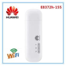 Разблокированный huawei E8372 E8372h-155 4 аппарат не привязан к оператору сотовой связи дуплексная частота 1/3/5/7/8/20 аппарат, который не привязан к оператору сотовой связи полоса 38/40/41 150 Мбит/с USB WiFi модем роутер Wi-Fi модем