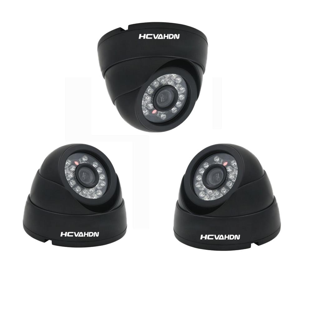 4X 800TVL CCTV Video Surveillance Dome Indoor IR Night Security Camera Kit Hot