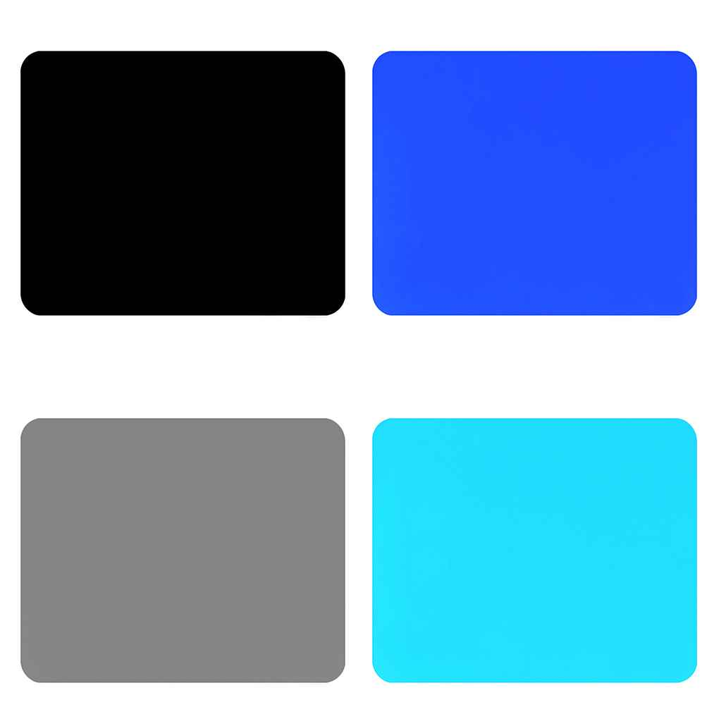 1pcs Solid Color Ultra Thin Student Fabric Gaming Mouse Pad Colorful Mat Tasteless Non Slip Gift
