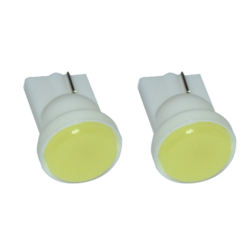<font><b>100X</b></font> Car Interior <font><b>T10</b></font> <font><b>LED</b></font> W5W COB 168 Wedge Door Instrument Side Bulb Lamp Car Light White Blue Red Green Yellow Source 12V image