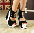 2017 Hot Sale New Summer Pumps Sexy Ultra High Heels Female Sandals Platform Wedges Open Toe Women's Shoes Princess Shoes