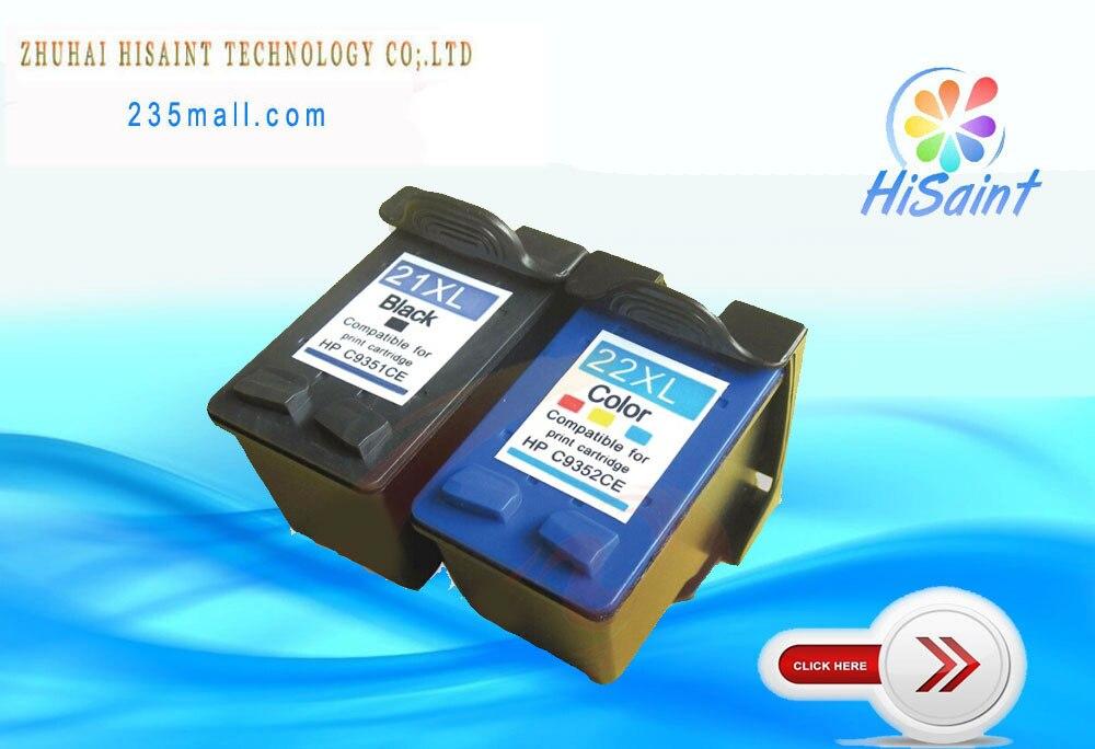 Hisaint 2 * Compatible pour HP 21XL 22XL Cartouche D'encre C9351A C9352A pour HP D2330/D2360/D2460/ f310/Fax 1250 Imprimante Livraison Gratuite