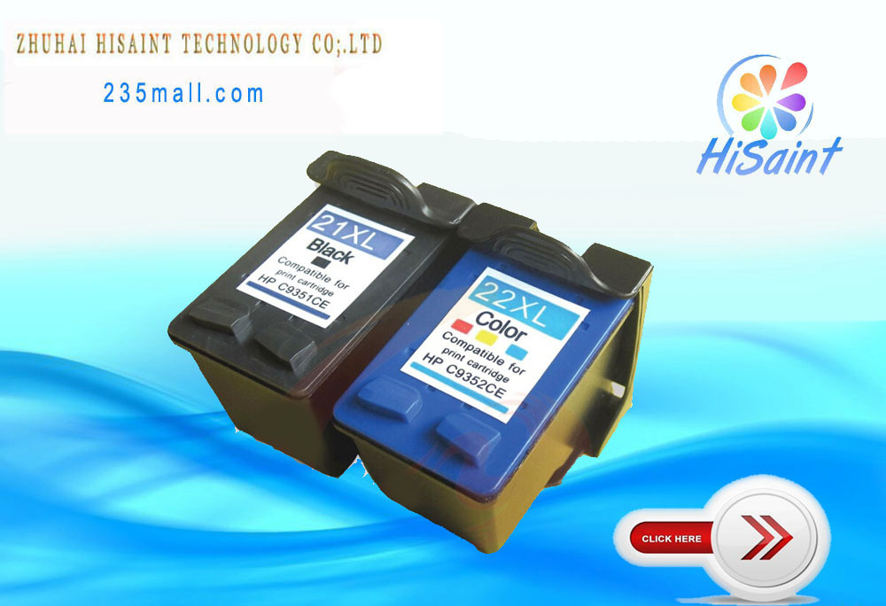 hisaint 2*Compatible  for HP 21XL 22XL Ink Cartridge C9351A C9352A - Office Electronics