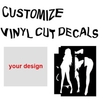 Customize Car Vinyl Cut Decal Sticker Girl Jane Car Motorcycle Car Stickers Reflective Stickers