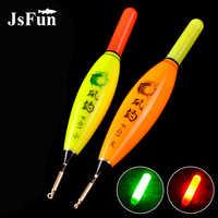JSFUN 1 stück Luminous Felsen Angeln Boje Kleine/Große LED Elektronische Angeln Float mit CR425 Batterie Nacht Angelgerät YF05