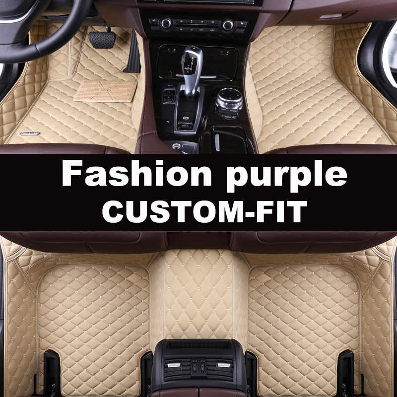 Auto Vloermat Fit Links Of Rechts Drive Fit Hyundai I30 IX30 IX35 Elantra Santa Fe Sonata Tucson Accent coupe 5D Auto-Styling