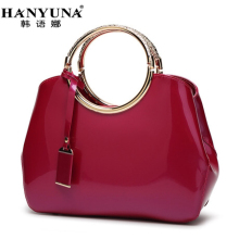 HANYUNA BRAND New Fashion European Patent Leather Women Handbags Luxury Ladies Single Shoulder Bags Multi-functional Female bag
