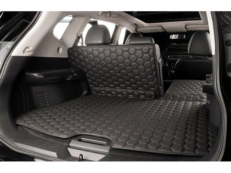 3p black PU rear trunk Pad cover carpet mats for Nissan Rogue x-trail 2014 2015 car rear trunk security shield shade cargo cover for nissan x trail xtrail rogue 2014 2015 2016 2017 black beige
