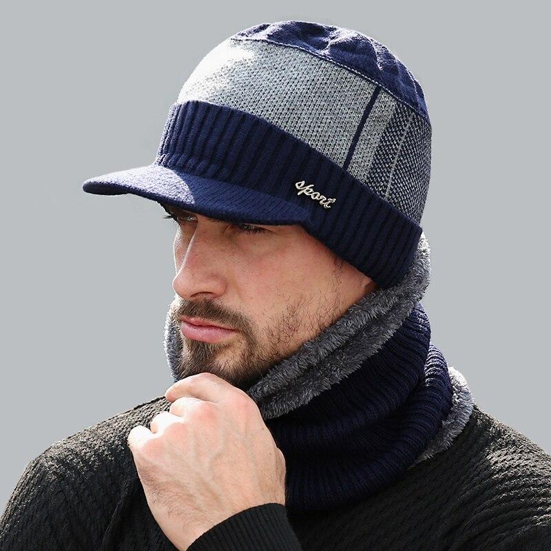 Dicke Warme Winter Hüte Skullies Mützen Hut Für Männer Frauen Wolle Schal Caps Balaclava Maske Gestrickte Hut Gorras Motorhaube