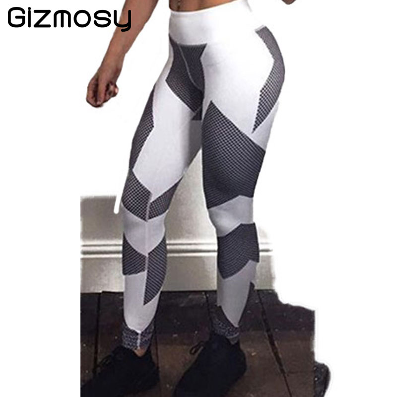 1PC Harajuku Elastic Push Up Fitness Legging Stripe Bodybuilding Women's Leggings Sportswear Athleisure Female Pants SY2213