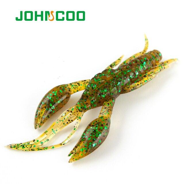 "JOHNCOO 6 יחידות דגי 65 מ""מ 5.4 גרם רך סיליקון שרימפס פיתוי Wobbler מסתובב פיתיון מלאכותי דיג מזויף פיתיון שרימפס"