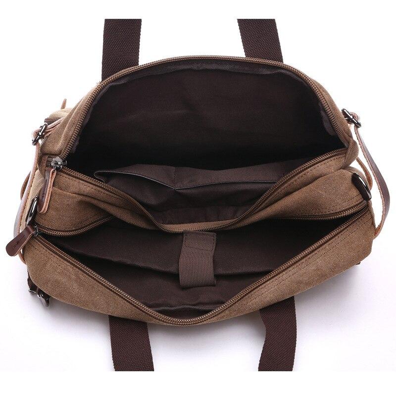 Hommes sacs à main ordinateur portable sacs à bandoulière hommes Messenger sac toile grande capacité Bolsa Masculina Vintage sacs de voyage femmes - 6