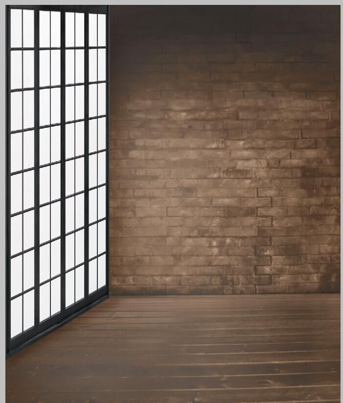 Interior Brick Flooring Pricing : Ft indoor light color brick wall wooden floor lattice