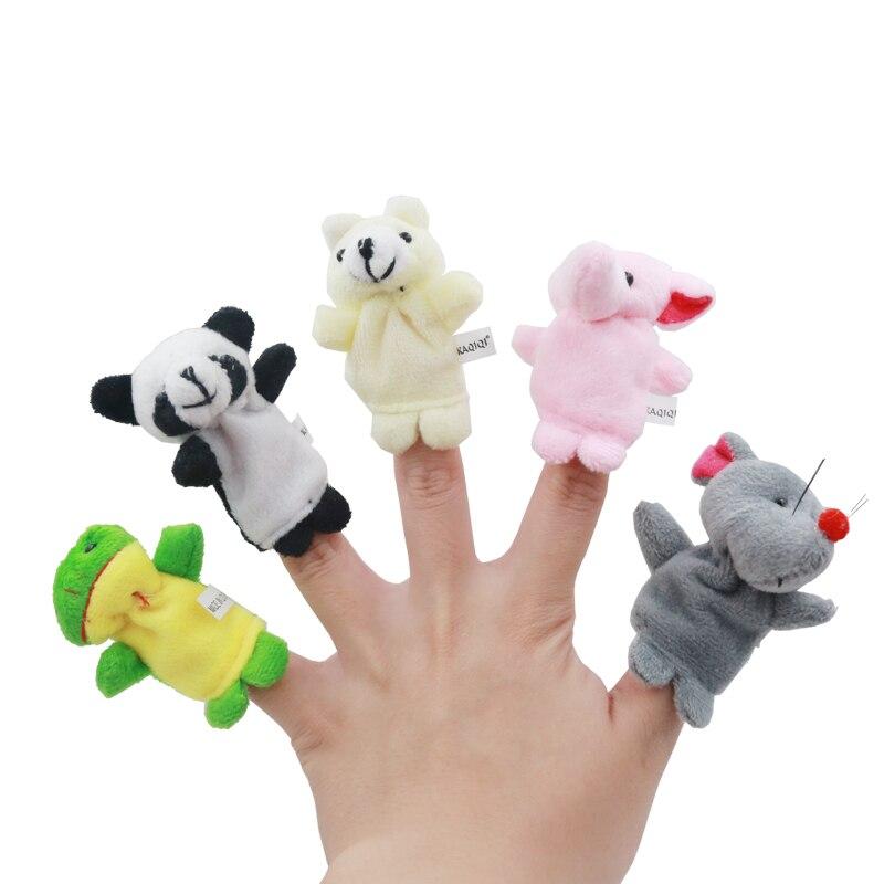 400 pcs/lot marionnette chaude de doigt d'animal de bande dessinée, jouet de doigt, poupée de doigt, poupées de bébé, jouets de bébé-in Marionnettes from Jeux et loisirs    1