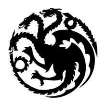 Car stying 13.6*13.9CM About Dragon Throne Game Of Stickers Personalized Motorcycle Vinyl Decals  Jdm