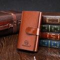 Pu Men Vintage 3D Letter Embossed Hasp Long Wallet Luxury Clutch Bag Casual Purse Male Card Holder Popular Billfold Carteira