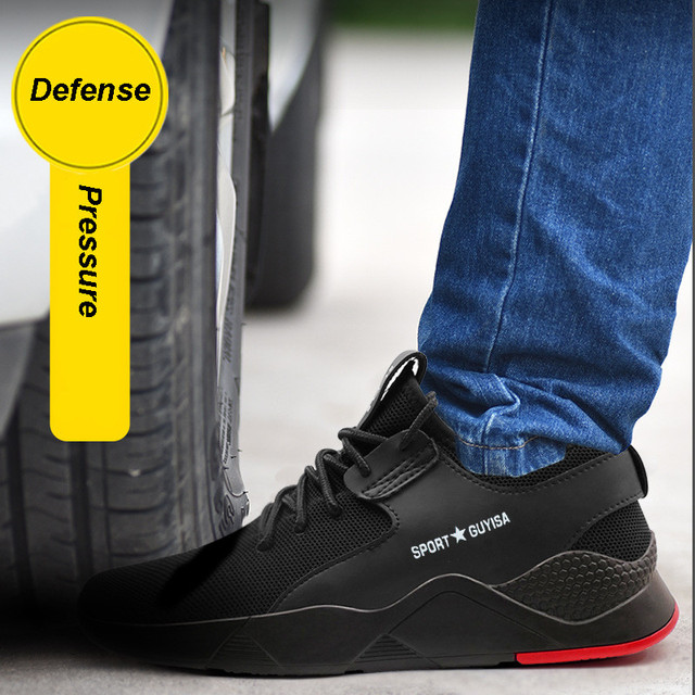 Men's Steel Toe Work Safety Shoes Casual Breathable Outdoor Sneakers Puncture Proof Boots Comfortable Industrial Shoes for Men 3