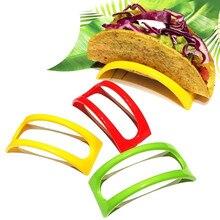 12 шт. красочные пластиковые Taco оболочки держатель Taco стенд пластины протектор Еда Держатель кухонные продукты стойка для блинов подставки
