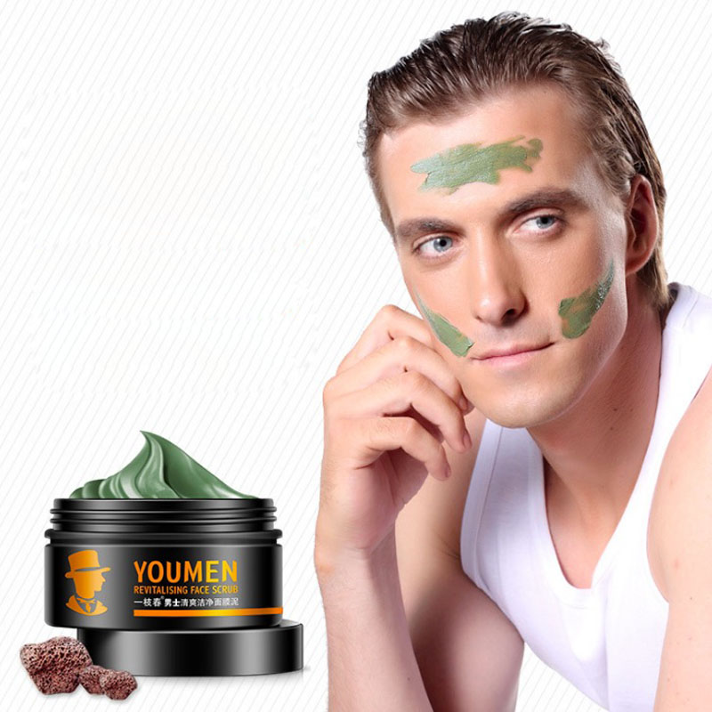 Bean Mud Blackhead Remove facial face mask Deep Moisturizing Oil Control Man Shrink pores brighten skin tone skin care product image