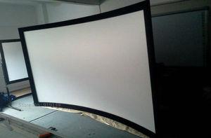 Image 4 - Écran de Projection cinéma bon Gain 16:9 écrans de projecteur à cadre fixe incurvé 120 pouces HD blanc mat pour laffichage cinéma 3D