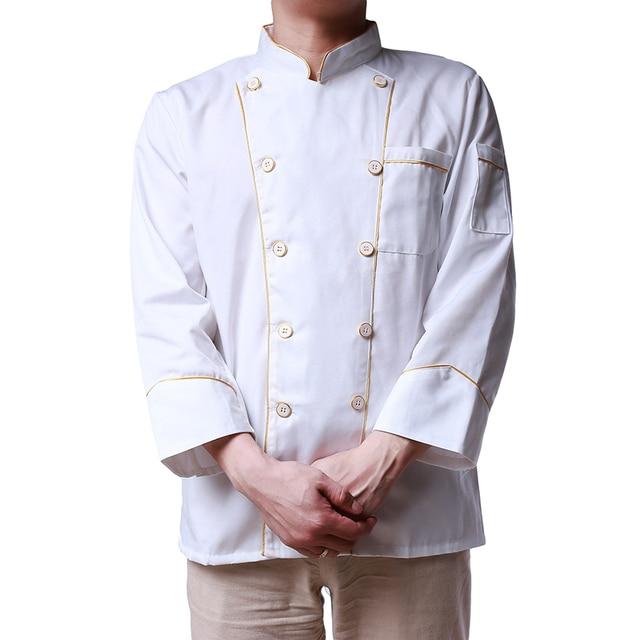 White Kitchen Chef Jacket Uniforms Full Sleeve Plus Size Cook ...