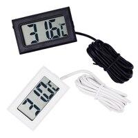 By Dhl Fedex 300pcs Lot Mini Digital LCD Water Thermometer Temperature Sensor Fridge Freezer Black White