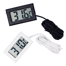 Wholesale prices by dhl/ fedex 300pcs/lot Mini Digital LCD water  Thermometer Temperature Sensor Fridge Freezer black white
