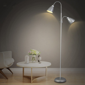 2016 LED Modern minimalist fashion lamp The living room bedroom study floor lamp Double lamp