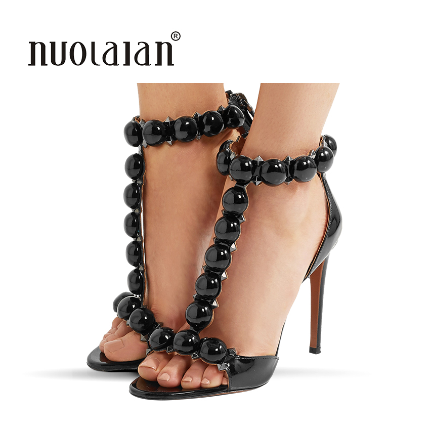2018 Summer Women Sandals Sexy High Heels sandals T-Strap Women's Shoes Peep Toe High Heels Party Wedding Shoes Woman stylish women s sandals with t strap and peep toe design