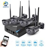 JOOAN беспроводной безопасности камера системы 4CH CCTV NVR 1080 P Wi Fi открытый ночное видение сети IP товары теле и видеонаблюдения комплект