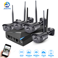 JOOAN Wireless Security Camera System 4 Channel Video Recorder CCTV NVR 960p Wifi Outdoor Network IP