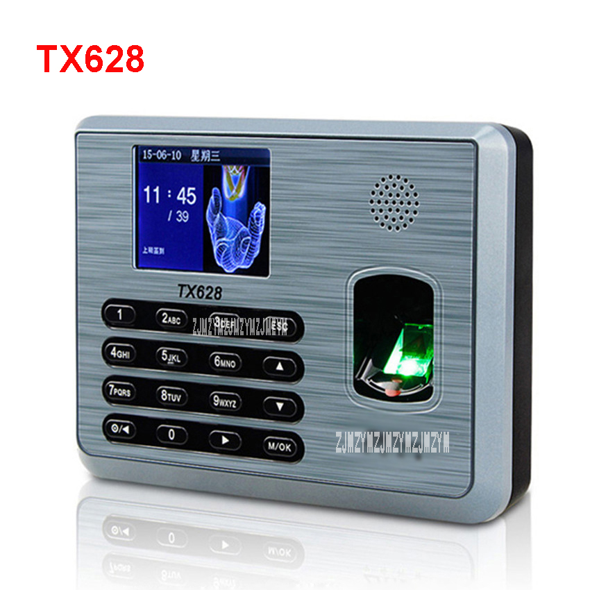 TX628 fingerprint attendance punch card machine fingerprint to work fingerprint machine sign machine punch card machine 5v туфли allora allora mp002xw1982d