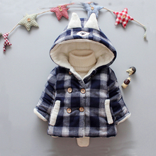 Baby Winter Outerwear Coat for Baby Boys Fashion Plaid Warm