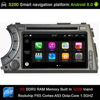 Android 8.0 8 Octa Core 32GB INAND flash CAR DVD PLAYER GPS for Ssang yong Ssangyong Actyon Kyron 2005 2013 Car Audio player