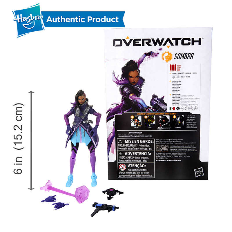 Hasbro Overwatch Ultimates Tracer Sombra Lucio Blackwatch Reyes 6 นิ้วสะสมตัวเลขการกระทำขายร้อนยอดนิยมในตลาด