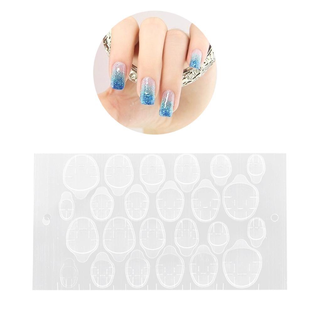 24pcs-10Sheet/pack Transparent Double Sided Adhesive Tapes Stickers Fingernail Art False Nail Tips Extension Tools 40