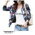 2016 Women Hoody Autumn Sportwear Printed Flower Sweatshirt Women Long Sleeve Hoodies c3511