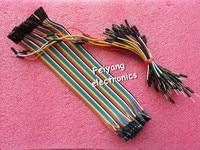 65PCS Breadboard Tie Line Jumper Cable 40PCS Dupont Wire 20cm Cable Line 1P 1P Female To