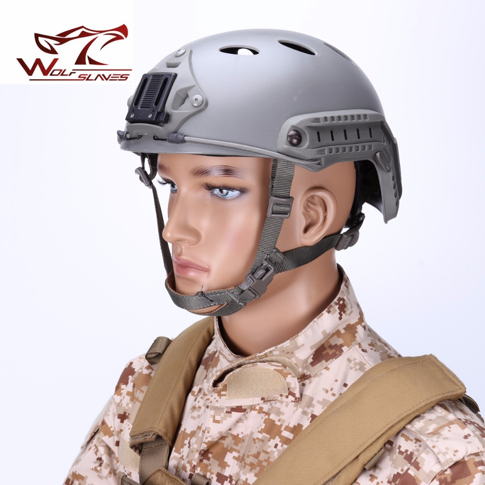 Wolfslaves military Outdoor sport helmet Airsoft FMA FAST pro PJ Round Hole Tactical & combat Helmet multi color available 2015 new kryptek typhon pilot fast helmet airsoft mh adjustable abs helmet ph0601 typhon