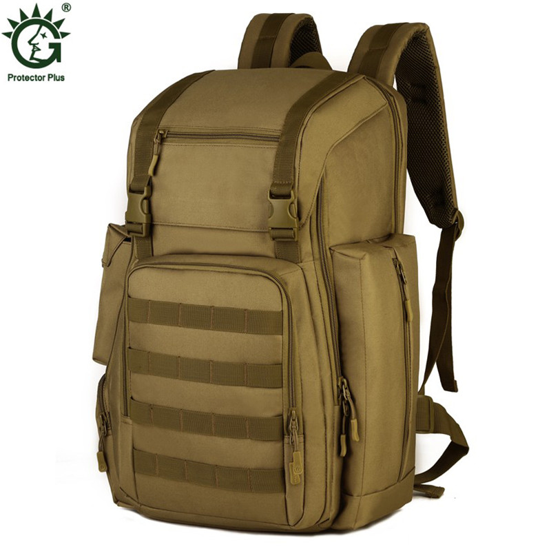 40L Men's Military Backpack High Quality 17 Inch Laptop Bag Men Army Molle Backpacks Waterproof Nylon Travel Bags Camouflage tacvasen 35l waterproof molle men backpack military 3p backpacks camouflage army travel bags school backpack td shz 009