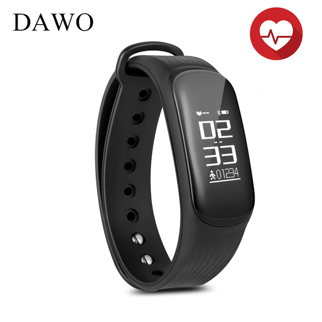 Dawo Fitness Tracker Smart Bracelet Heart Rate Monitor Sport Sleep Alarm Wristband For Ios Android