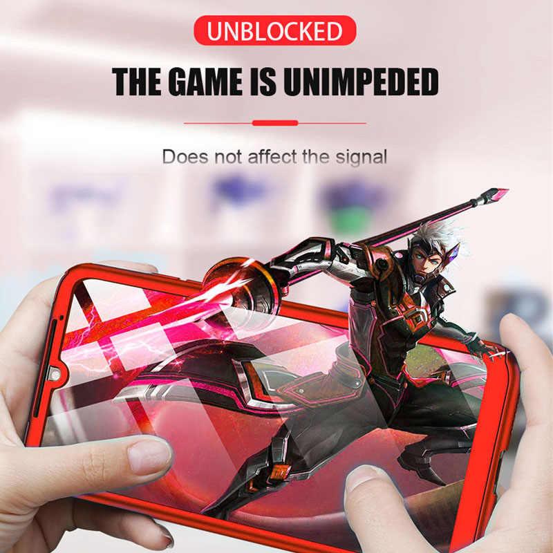 Luxury 360 Penuh Penutup Ponsel Case untuk Red Mi Note 7 5 6 K20 Pro Merah Mi 7 6A Shockproof case untuk Xiao Mi Mi 9 8 Se A2 Lite dengan Kaca