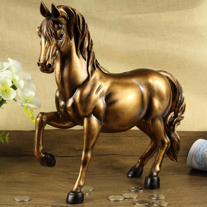 Vintage Horse Statues Figurines Ornaments Horses Crafts Money Boxes Home Decoration Accessories Creative Business Wedding GiftsVintage Horse Statues Figurines Ornaments Horses Crafts Money Boxes Home Decoration Accessories Creative Business Wedding Gifts